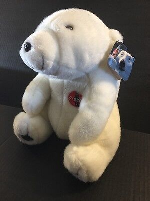 New With Tags 1993-1995 Coca Cola PLUSH Beautiful Snow White Polar Bear COLLECT!