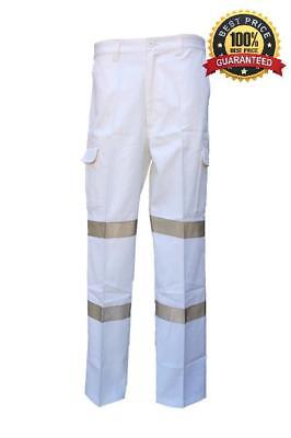 3 Night Work RTA NSW ROAD TRAFFIC White Cargo Pants with TAPE, BEST QUALITY&DEAL