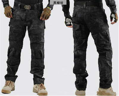 &mens Tactical Overalls Camo Pants Military Security Cargo Combat Trousers&