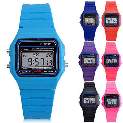 Cool Men Women Kids Electronic LED Digital Multifunction Sports Wrist Watch Gift
