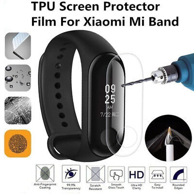 5x Explosion-proof LCD TPU Full Cover Protect Screen Film For Xiaomi Mi Band 2/3