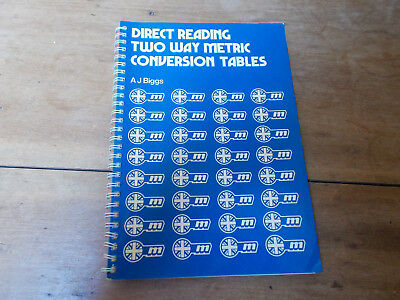 Direct Reading Two Way Metric Conversion Tables by A.J.Briggs