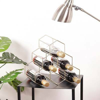 Modern Metal Wine Bottles Holder Storage Wine Stand copper gold chrome Wine Rack