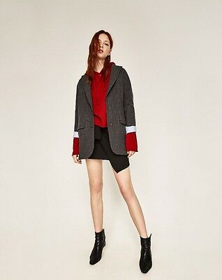Zara Women's Grey Pinstripe Jacket, Large Size, Brand New With Tags RRP£79.99