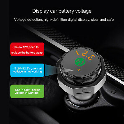 Wireless In-Car Bluetooth FM Transmitter MP3 Radio Adapter Car Kit 2 USB Charger