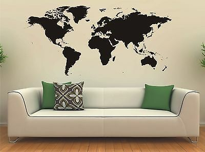 world map wall art sticker vinyl decal large 9 99 picclick uk