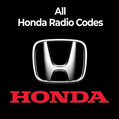 Honda Radio Code Stereo PIN Unlock Codes Fast Unlock Civic/CRV/Jazz/Accord