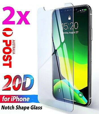 2x Tempered Glass Screen Protector iPhone 11 PRO Max XR X XS 7 6 6s plus 8 4 9uo