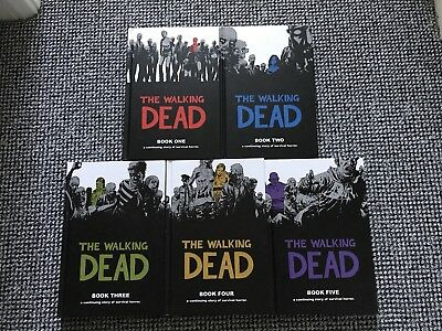 The Walking Dead Hardcovers SET Books 1 to 5 Mint Condition