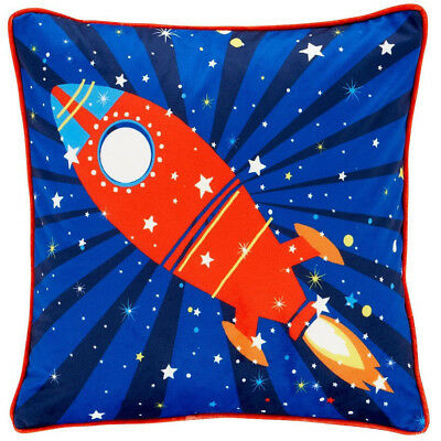 Catherine Lansfield Kids Outer Space Rockets Cushion Cover