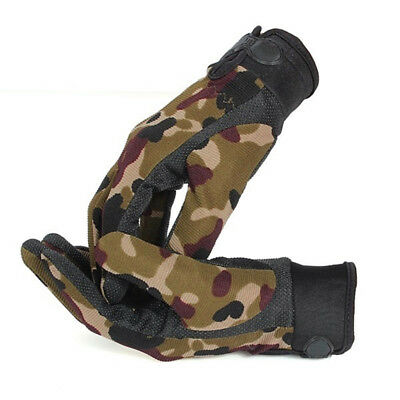Men Outdoor Sports Mittens Fashion Camouflage Airsoft Full Finger Gloves M6R7
