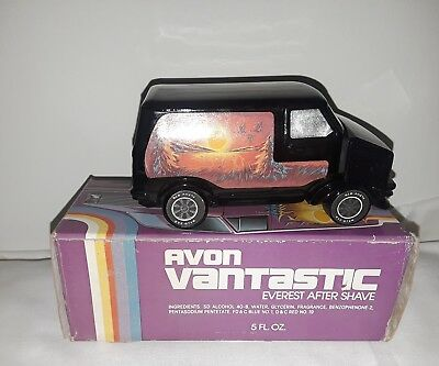 Vintage Vantastic Purple Van Avon After Shave Glass Bottle Car Chevy Dodge Ford