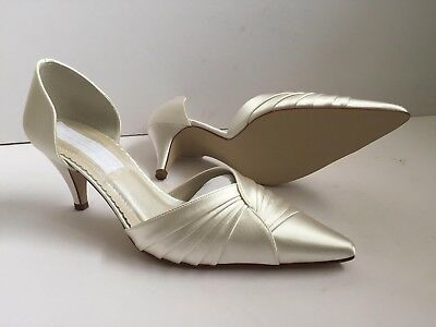 Rainbow Club Keira Women Bridal Pointed Toe Wedding Party Ivory Size 4 Rrp £65