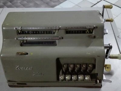 EVEREST Z5 del 1951 calcolatrice A CURSORI OLD CALCULATOR MADE IN ITALY