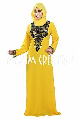 African Kaftan Hand Embroidery Dress By Maxim Creation For Modern Ladies 5432