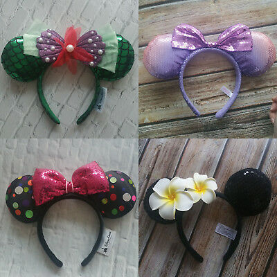 New Disney Parks Flower Minnie Mouse Ears Mickey Party Festical Cos Headband