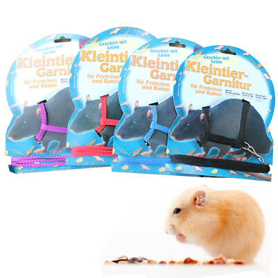 Popular Hamster Cage Playhouse Nylon Adjustable Harness Leash Traction Rope