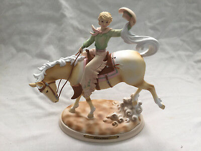 Sweet HORSE WHISPERS Wild at Heart Figurine Statue Enesco #4028508 COWGIRL LADY