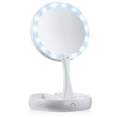 My Fold Away Mirror LED Double-Sided 10x Magnification Folding Makeup Mirror HOT