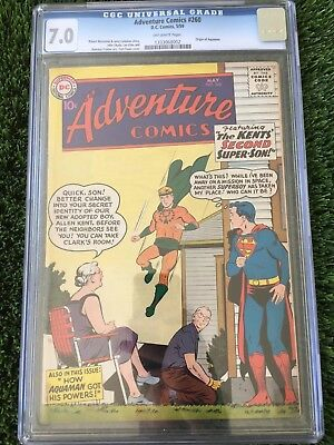 Adventure Comics #260 CGC 7.0 O/W pgs 1 1st SA Aquaman KEY Justice League Movie