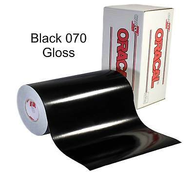 "12"" x 10 yd roll (30') - Oracal 651 Vinyl - Adhesive Permanent Outdoor - Black"