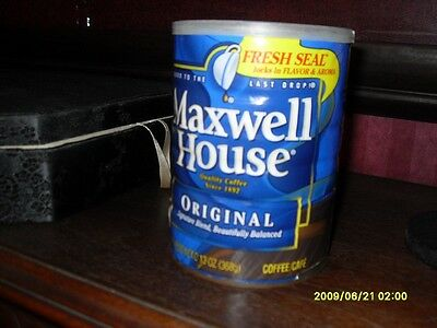 Coffee Can Safe - Maxwell House Coffee Original  - Bottom Unscrews For Stashing