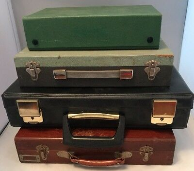 4 x Vintage 35mm Photo Slide Storage Boxes / Cases, Lots of Capacity Photography