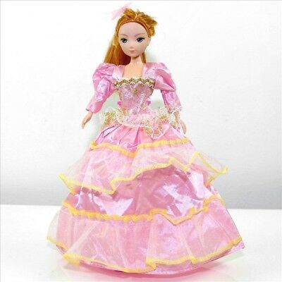 Handmade Party Dress Fashion Pinky Clothes For Barbie Doll Outfit Gown Wedding