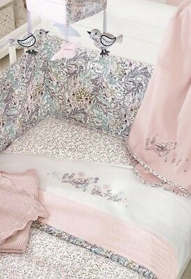 Next Nursery Little Blossom Bed In A Bag (Coverlet/Blanket/Sheet)RRP £60 - New