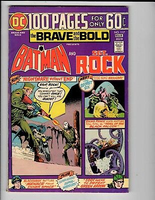 DC Comics the Brave and the Bold Batman and SGT. Rock #117 March VG 4.0