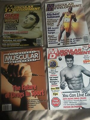 muscular development magazine 4 editions from 1999 rare vintage bodybuilding