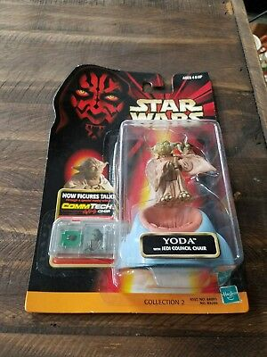 Hasbro Star Wars Episode 1 collection 2 Commtech Yoda Jedi action figure 4+