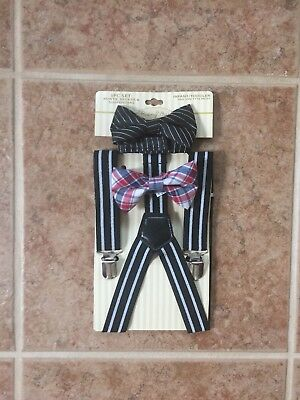 Boys Bow Tie and Clip On Suspenders for Infants/Toddler