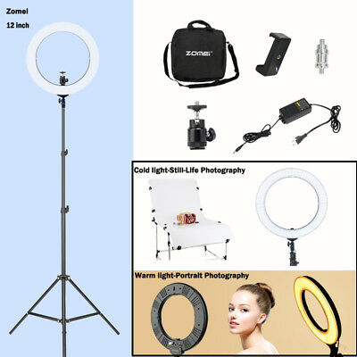 "50W 240PCS LED 14"" Ring Light 5500K Dimmable+Universal Adapter w/US Plug"