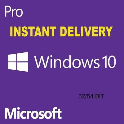windows 10 pro professional Key 32/64 bit instant Delivery WITHIN 10-20 Minutes