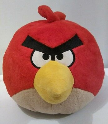 """2010 12"""" Angry Birds Talking Red Bird Commonwealth Large Plush"""