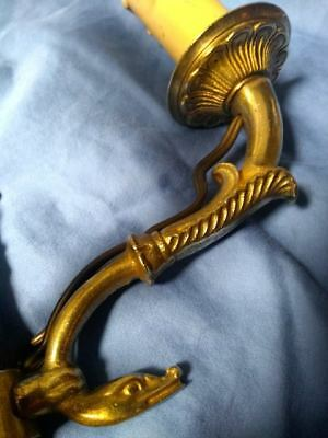 Vintage French Swan Sconce, Empire Style Flaming Torch