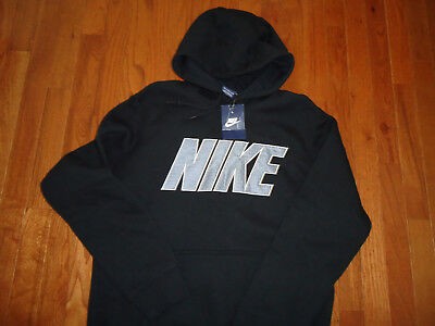 factory authentic 6d5fb 652d8 MEN'S NIKE BLACK Sweat Pullover Hoodie size M (NEW WITH TAGS)
