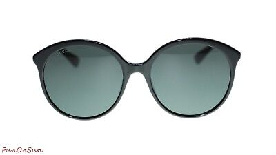 0df034692c4 GUCCI WOMEN S SUNGLASSES GG0257S 001 Black Grey Lens Round 59mm ...