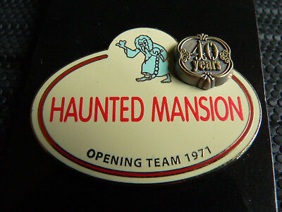 HAUNTED MANSION WDW Walt Disney World 40th Name Tag 40 Years Cast Member Pin NOC
