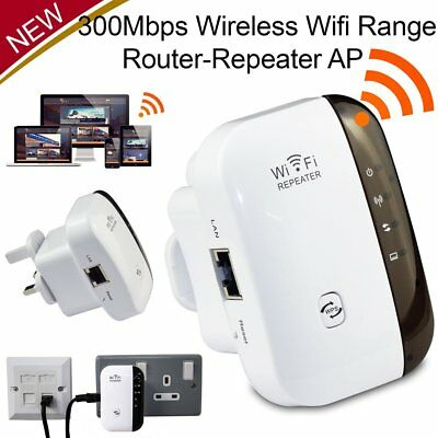 Wireless 300Mbps N 802.11 AP Wifi Range Router Repeater Extender Booster UK CC