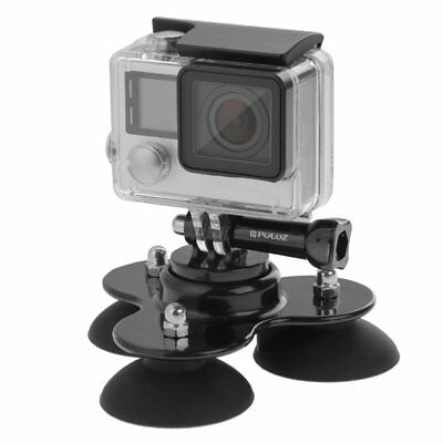 Triangle Suction Cup Mount Tripod with Screw for GoPro HERO 5 4 3+ 3 2 Camera FU