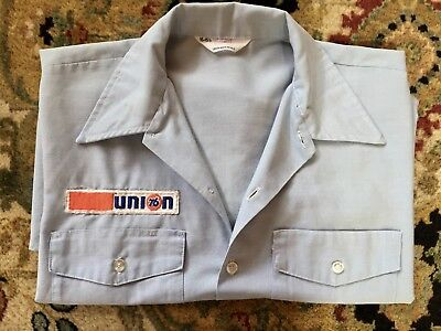 Vintage Union 76 Shirt With Patch Short Sleeve Excellent Condition