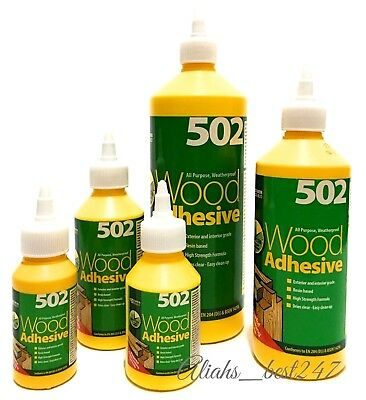 EVERBUILD 502 Wood Glue All Purpose Waterproof Wood Adhesive Glue High Strength.