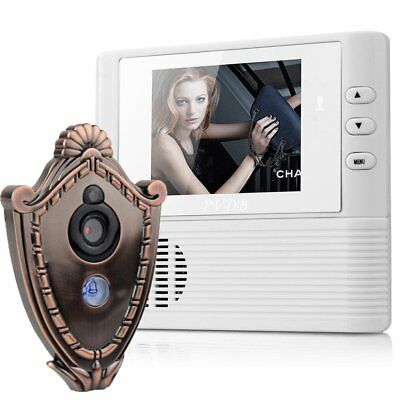 "2.8"" LCD Digital Peephole Viewer Door Eye Doorbell Video Color IR Camera SL"