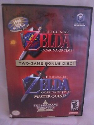 The Legend of ZELDA Ocarina of Time and Master Quest Nintendo Gamecube 2003