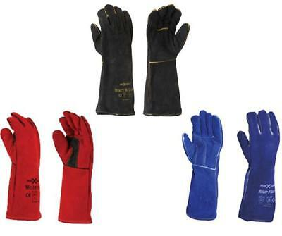 Maxisafe Multipack Multicolour Welding Gauntlet Glove Fabrication Foundry Safety