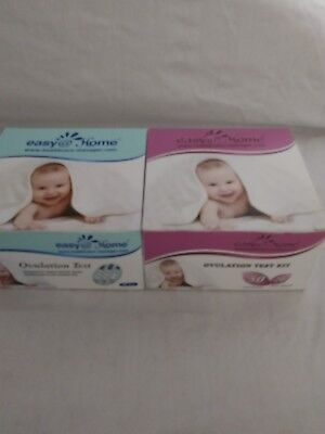 Easy@Home 100 Ovulation (LH) and 20 Pregnancy (HCG) Test Strips Kit, Exp 2/19