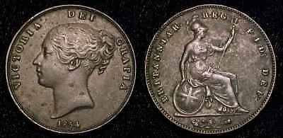 GREAT BRITAIN 1854 Penny VF+