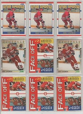 Eric Lindros (3) 1990-91 Score Hockey Rookie Cards+(2) Young Superstars+(41)Xtra